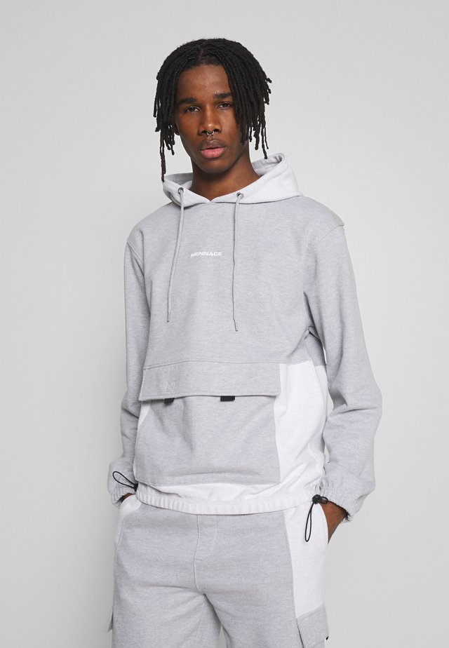LOOPBACK PANEL POCKET UTILITY HOODIE - Jersey con capucha - grey marl