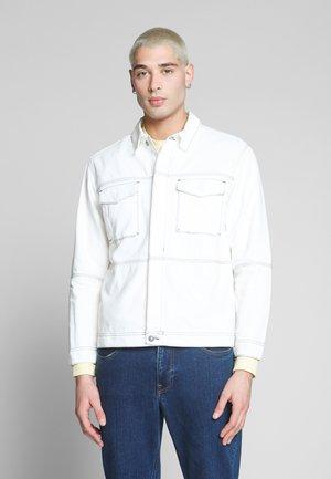 CONTRAST THREAD WORK SHIRT - Giacca di jeans - ecru