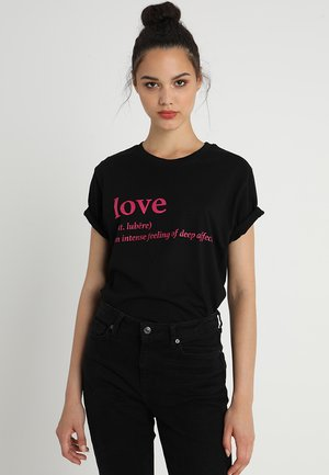 LOVE DEFINITION TEE - Print T-shirt - black