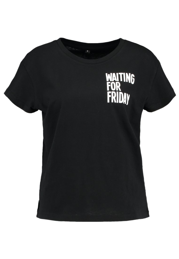 Merchcode LADIES WAITING FOR FRIDAY BOX TEE - T-shirt con stampa - black UA91btKC