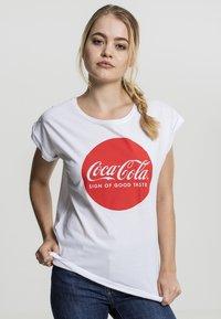 Merchcode - COCA COLA   - T-shirt print - white - 0