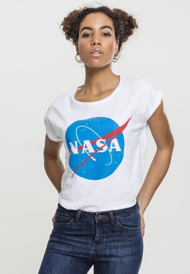 NASA INSIGNIA TEE - T-shirt med print - white