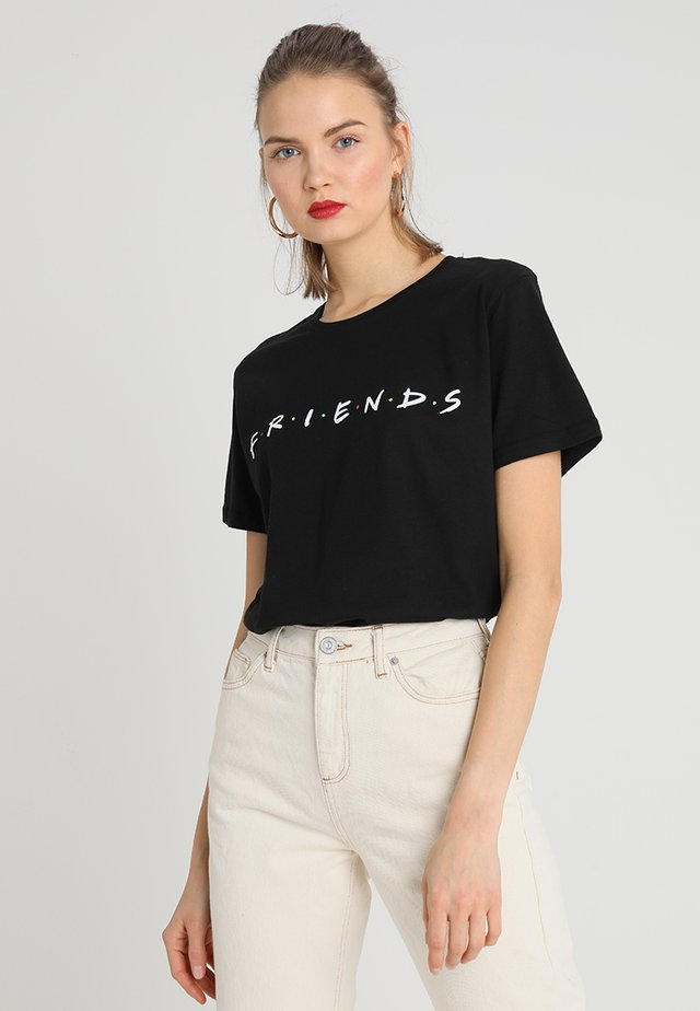 FRIENDS LOGO TEE - T-shirt z nadrukiem - black