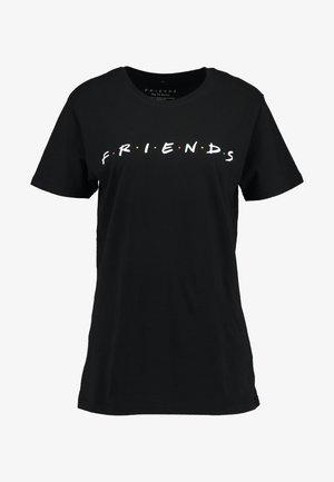 FRIENDS LOGO TEE - T-shirt print - black