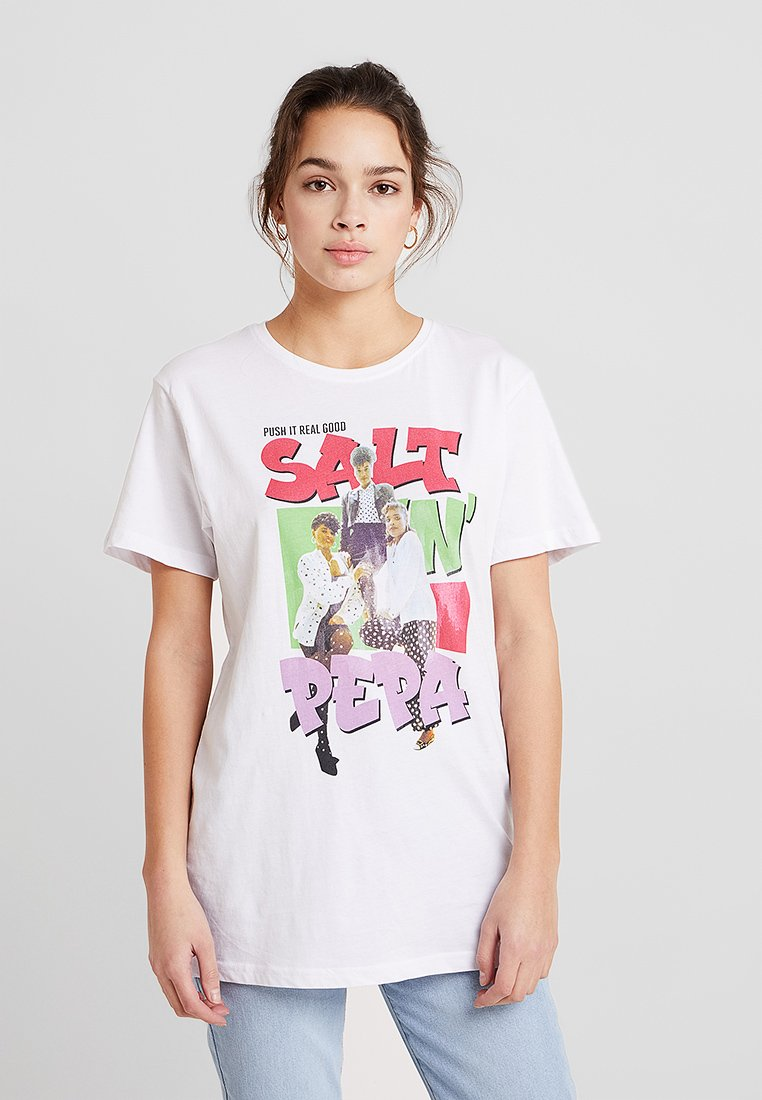 Merchcode - SALT'N' PEPPA - Camiseta estampada - white
