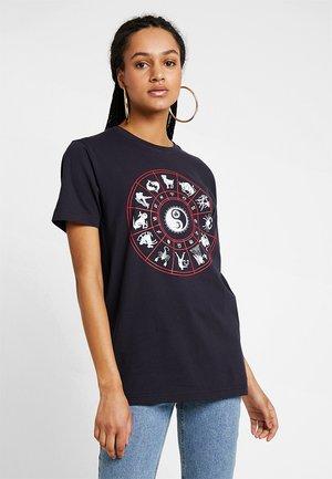 LADIES ZODIAC TEE - T-shirt imprimé - navy