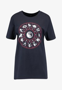 Merchcode - LADIES ZODIAC TEE - T-shirt con stampa - navy - 4