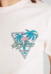 Merchcode - LADIES LONG BEACH TEE - T-shirt med print - rose - 5
