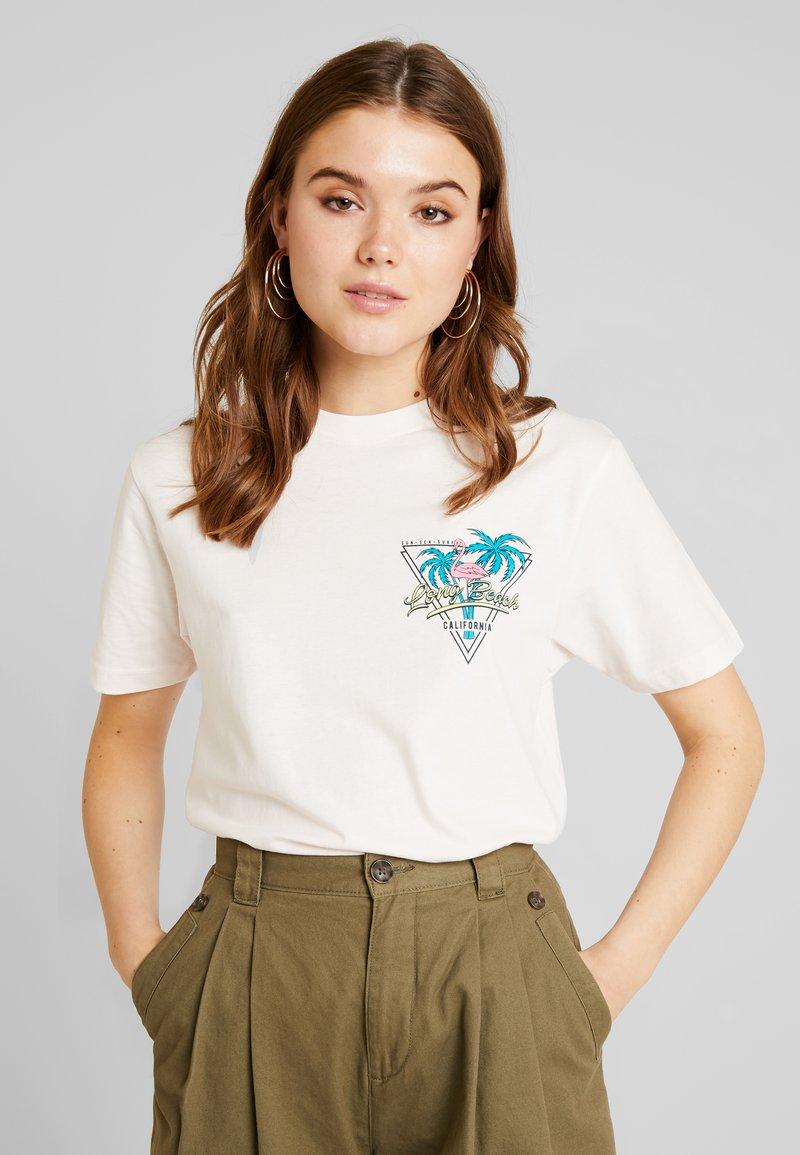 Merchcode - LADIES LONG BEACH TEE - T-shirt med print - rose