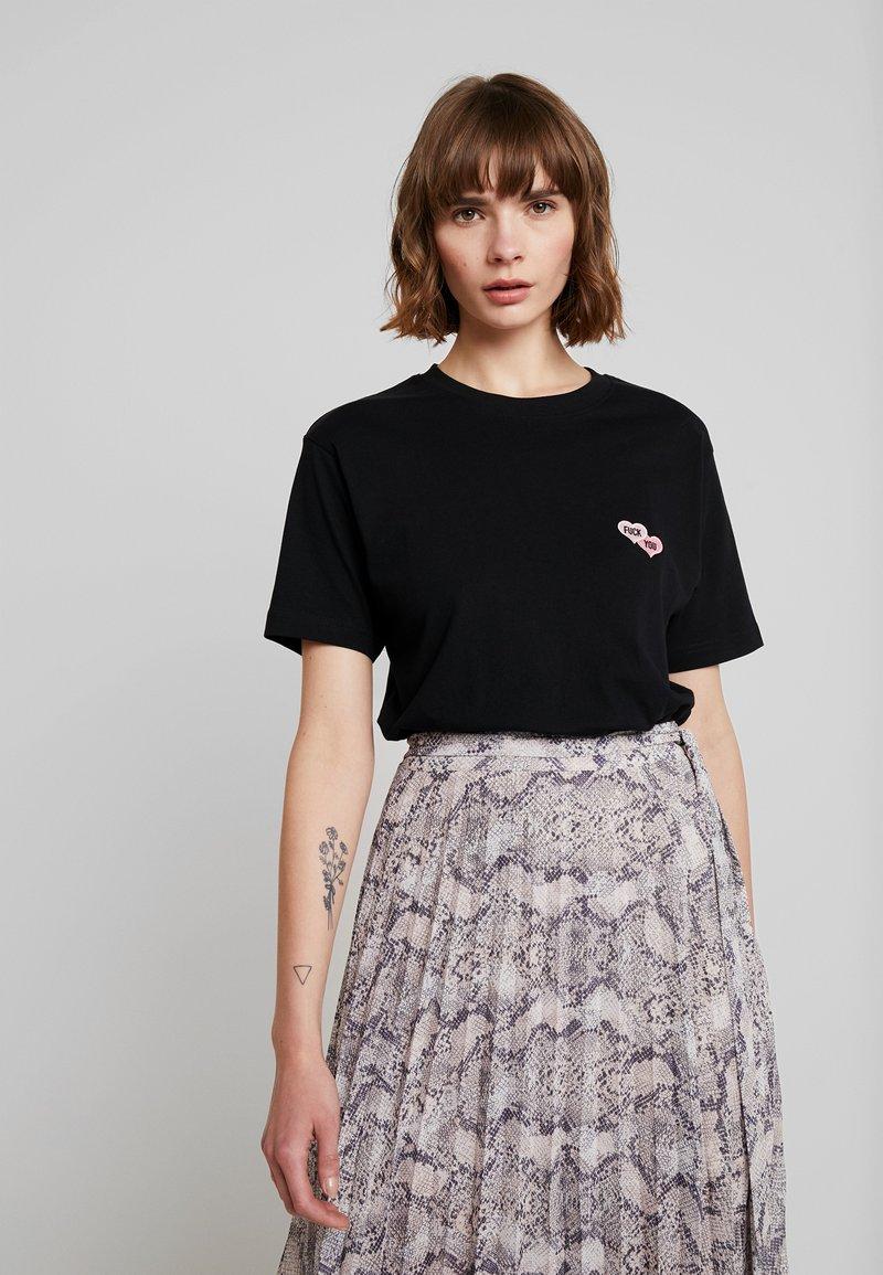 Merchcode - LADIES TEE - T-shirt imprimé - black