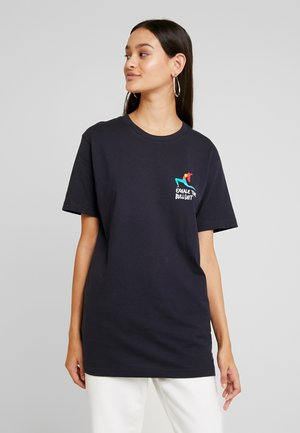 LADIES EXHALE TEE - T-shirt imprimé - navy