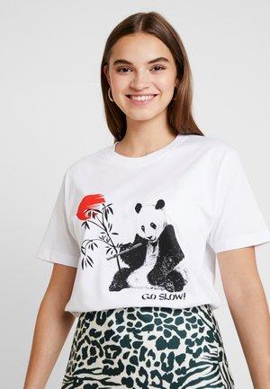 LADIES GO SLOW TEE - T-shirt med print - white