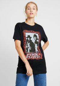 Merchcode - LADIES PINK FLOYD LOGO TEE - T-shirt imprimé - black - 0