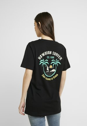 LADIES HAWAIIAN SURFER TEE - T-shirt print - black