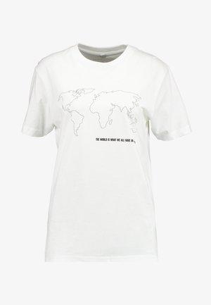 WORLD MAP TEE - T-shirts print - white