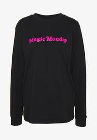 Merchcode - LADIES MAGIC MONDAY SLOGAN LONG SLEEVE - Bluzka z długim rękawem - black - 3