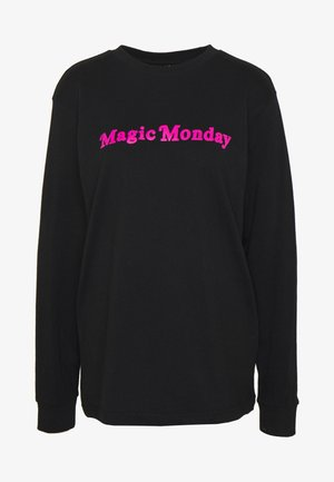 LADIES MAGIC MONDAY SLOGAN LONG SLEEVE - Pitkähihainen paita - black