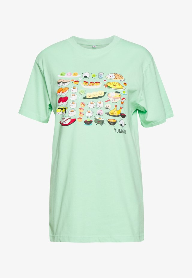LADIES PICK A SUSHI TEE - T-shirt z nadrukiem - neo mint