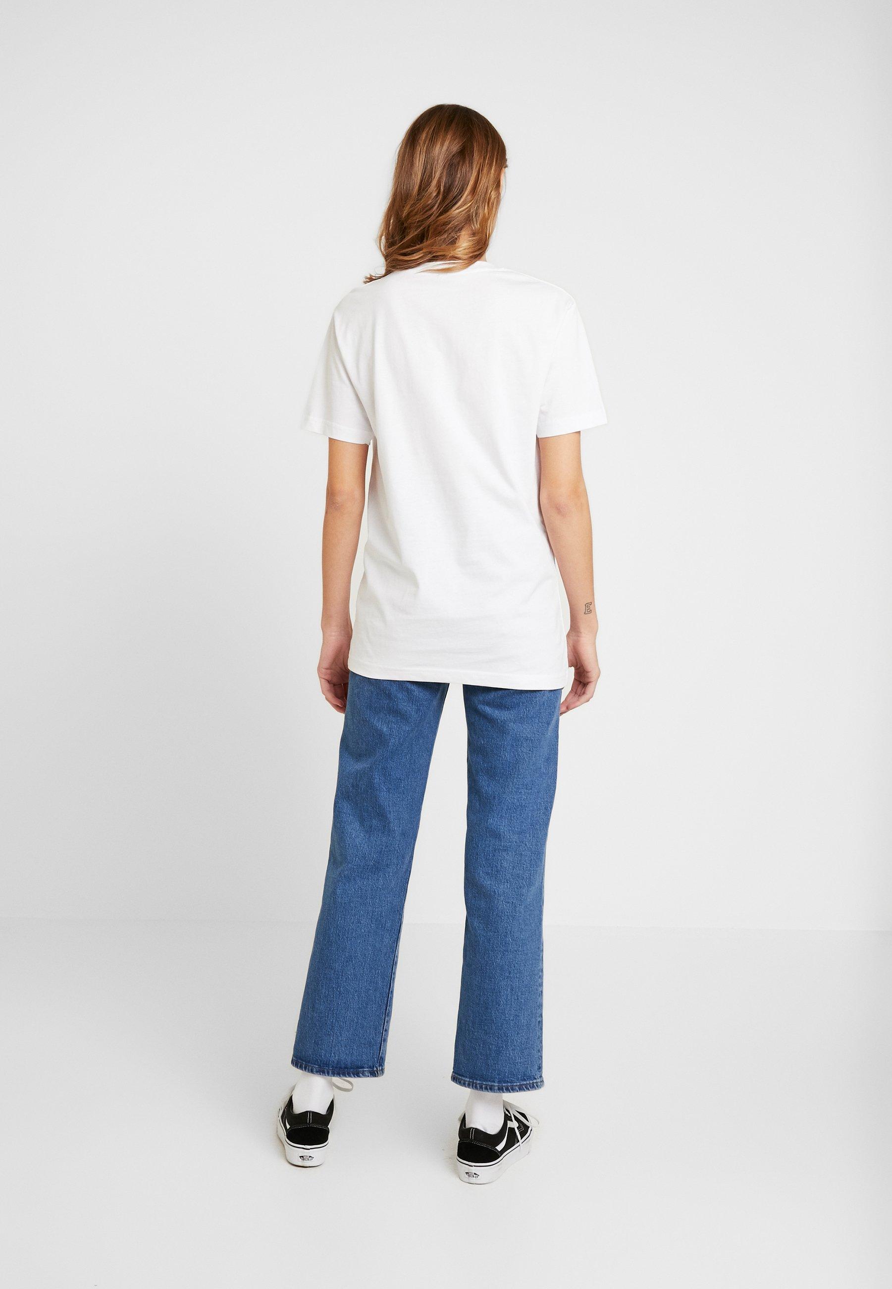 Merchcode LADIES MAGIC MONDAY SLOGAN TEE - T-shirts med print - white
