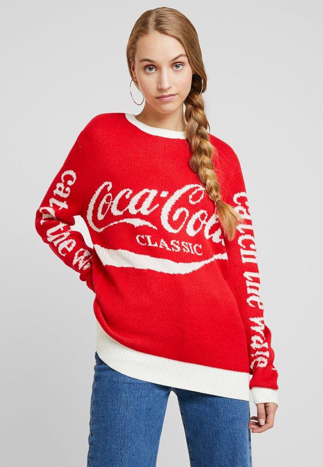 LADIES COCA COLA XMAS - Stickad tröja - red