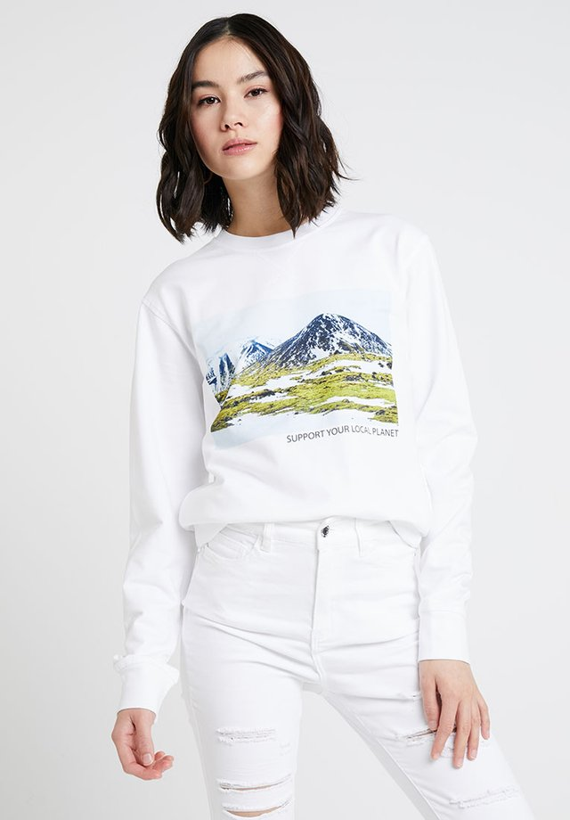 LADIES SUPPORT YOUR LOCAL PLANET CREWNECK - Sweatshirt - white