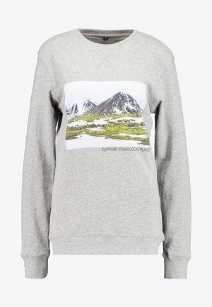 LADIES SUPPORT YOUR LOCAL PLANET CREWNECK - Sweatshirts - heathergrey