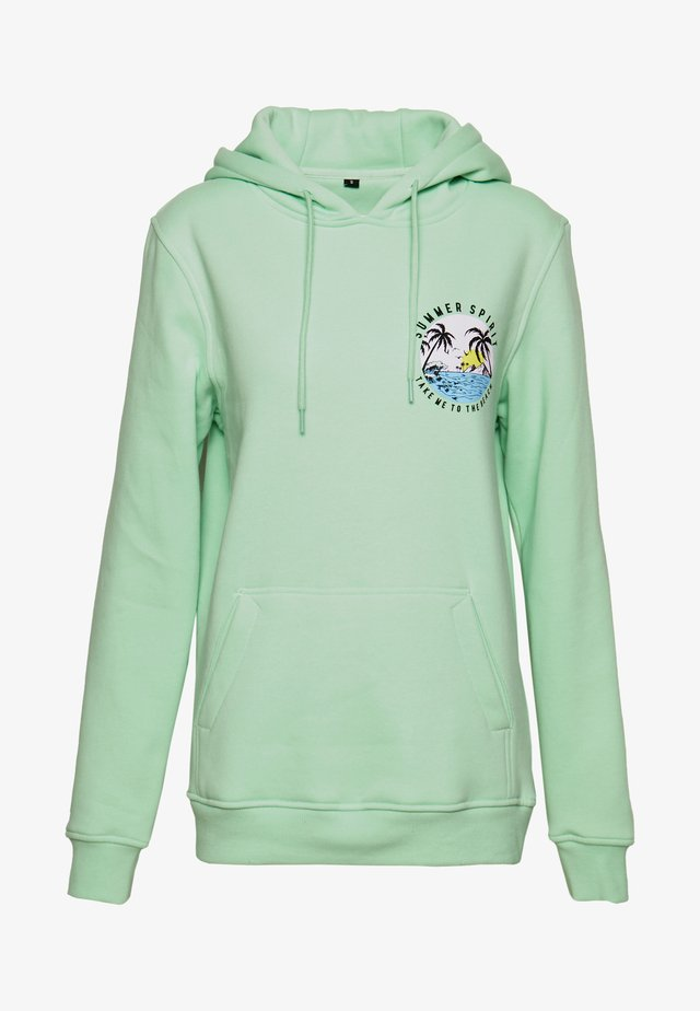 LADIES SUMMER SPIRIT HOODY - Bluza z kapturem - mint