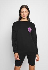Merchcode - LADIES PYCHADELIC MANDALA CREWNECK - Sweatshirt - black - 0
