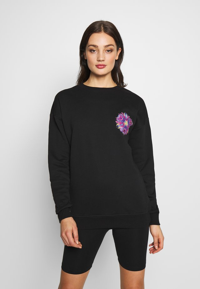 LADIES PYCHADELIC MANDALA CREWNECK - Sweatshirt - black
