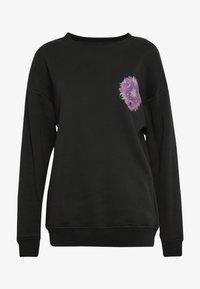 Merchcode - LADIES PYCHADELIC MANDALA CREWNECK - Sweatshirt - black - 3