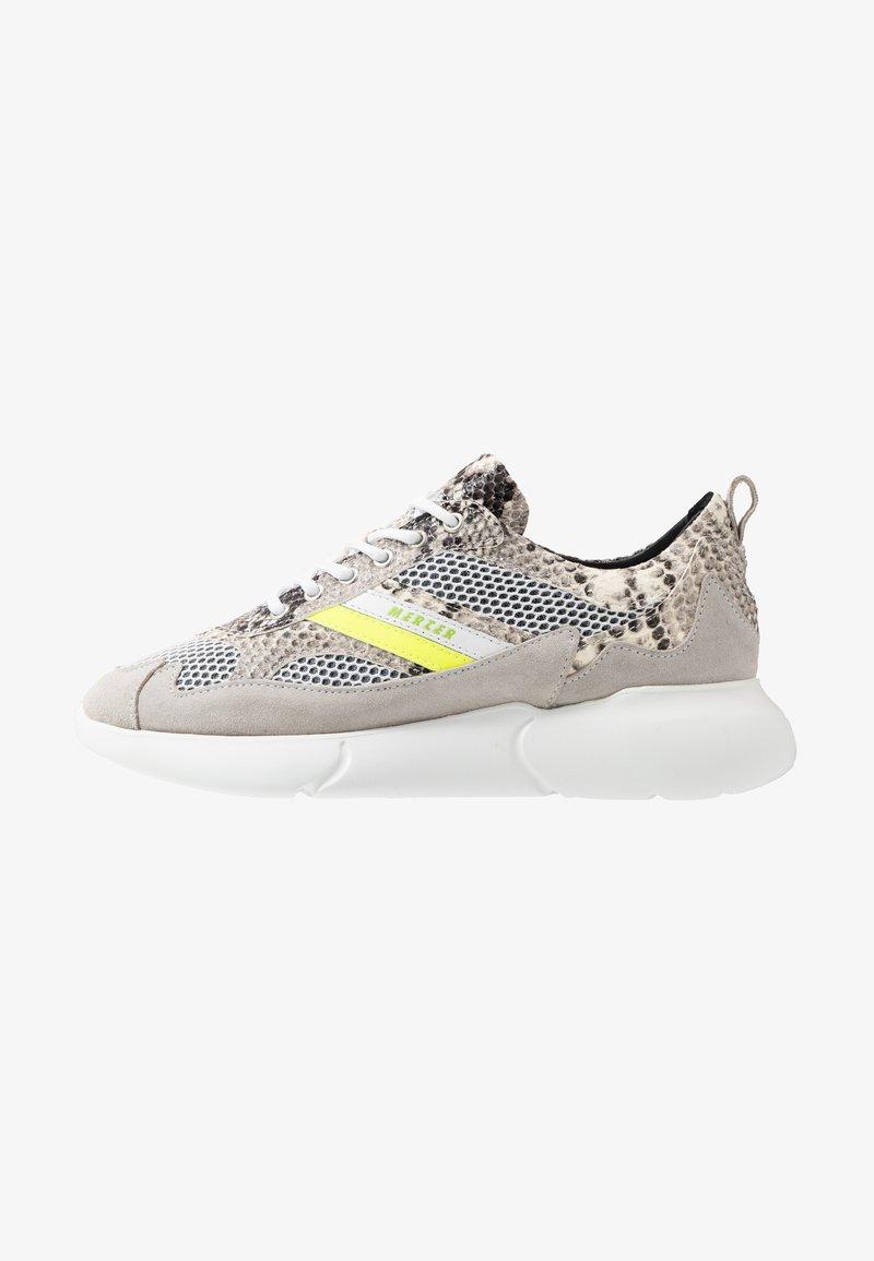 Mercer Amsterdam - SNAKE NEON - Sneakers basse - white