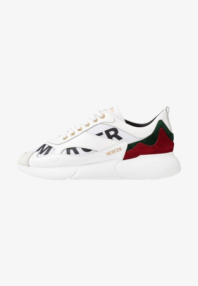 Mercer Amsterdam - Baskets basses - white/red/green