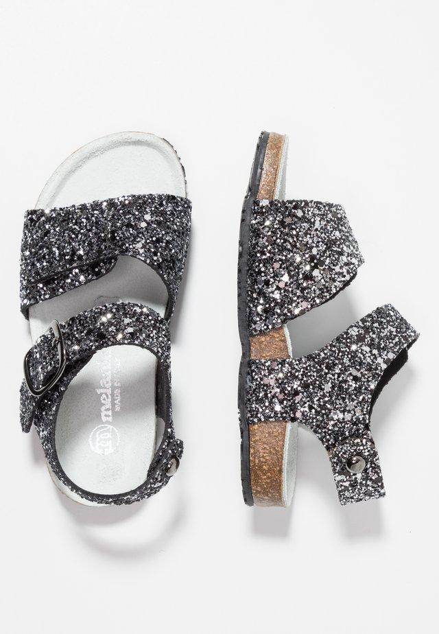 Sandaler - black glitter