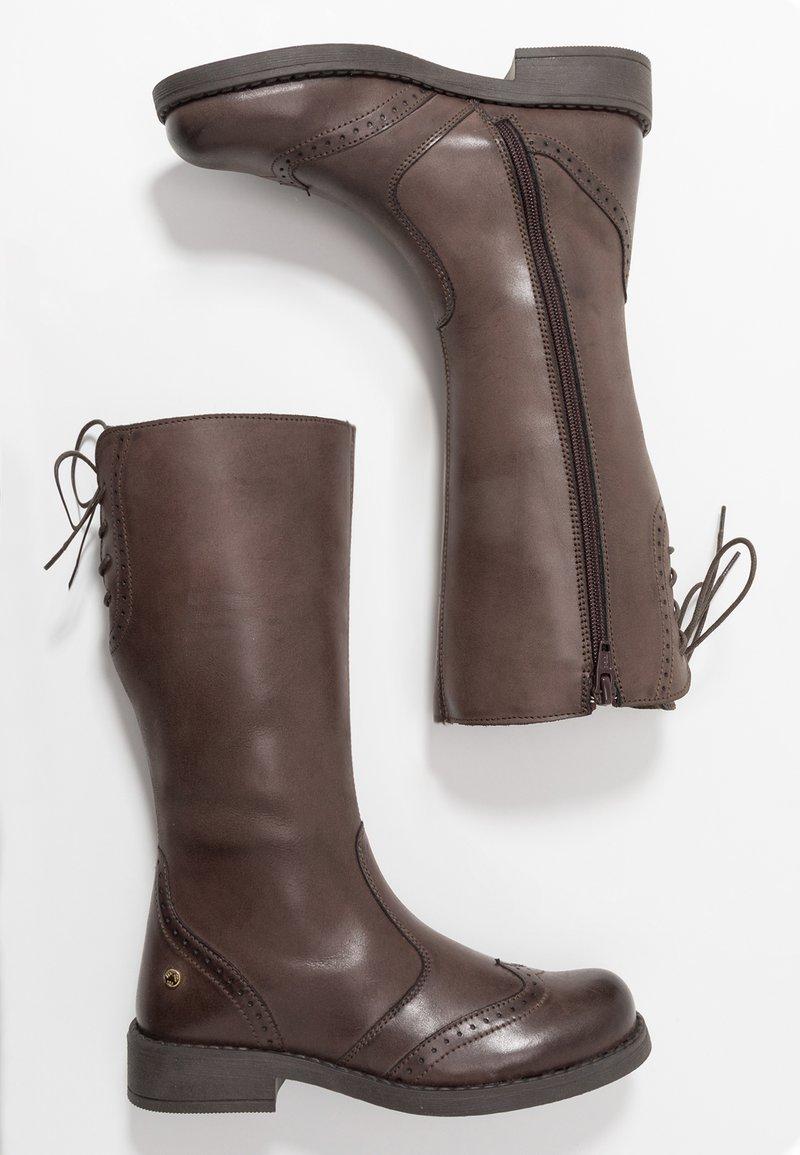 Melania - Šněrovací vysoké boty - taupe