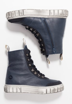 Lace-up ankle boots - blue