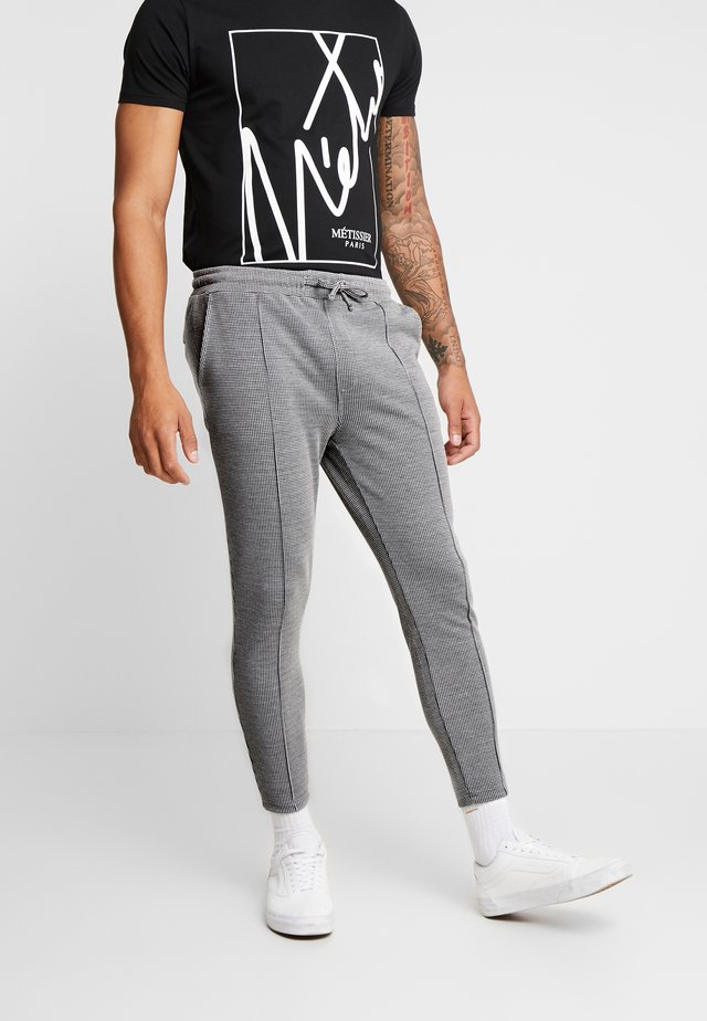 FORRES SMART JOGGERS IN CHECK - Tracksuit bottoms - grey