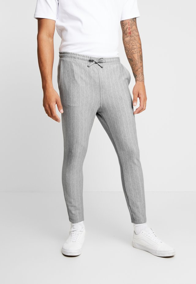 CLAMARAT SMART IN GREY STRIPE - Trousers - grey stripe