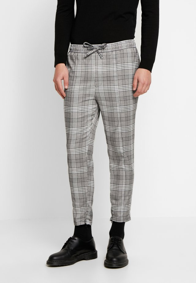 DORES SMART IN CHECK - Trousers - grey