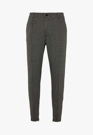 PIERO SMART IN CHECK - Stoffhose - charcoal