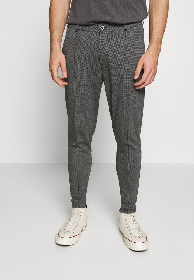 PIERO SMART IN CHECK - Pantaloni - charcoal
