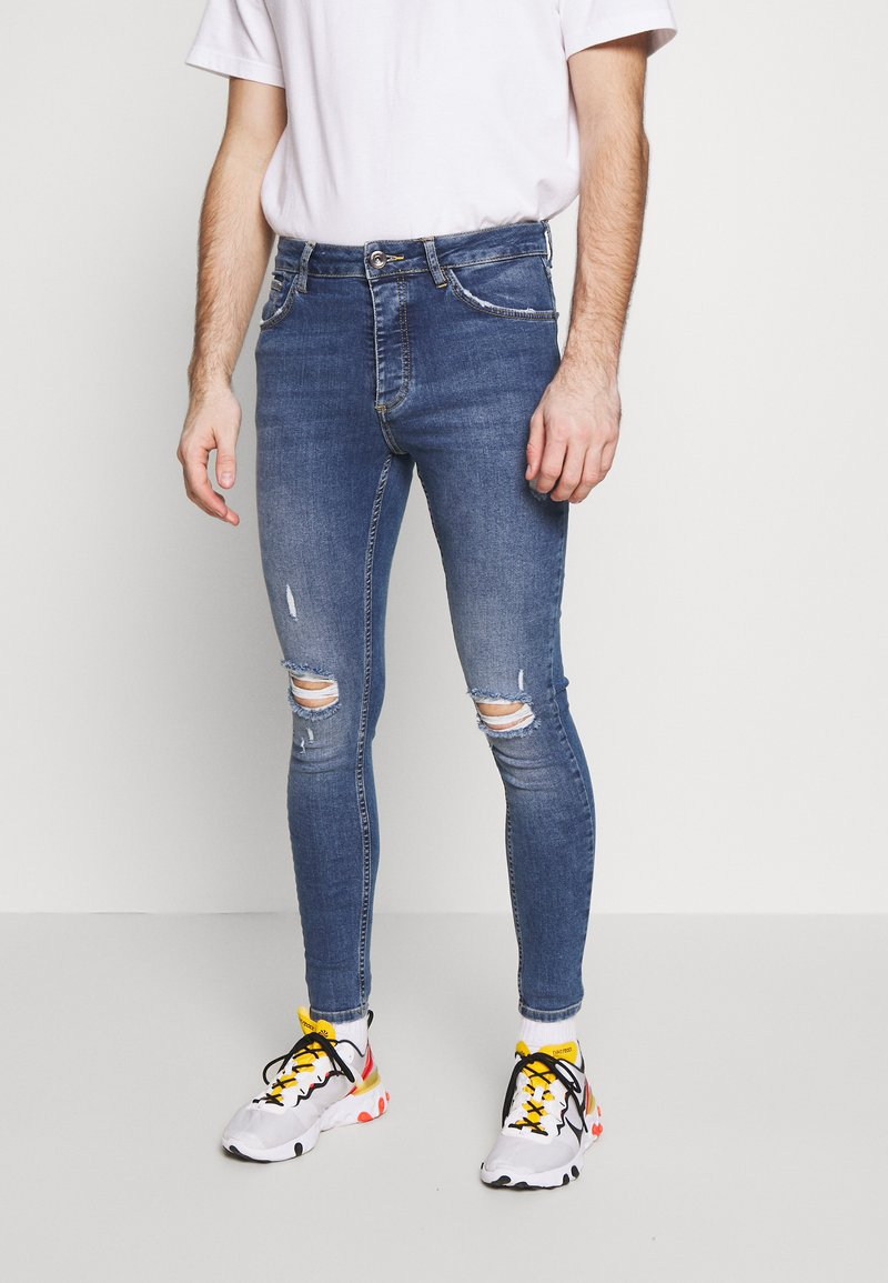 Metissier - NARIS MID WASH  - Slim fit jeans - blue