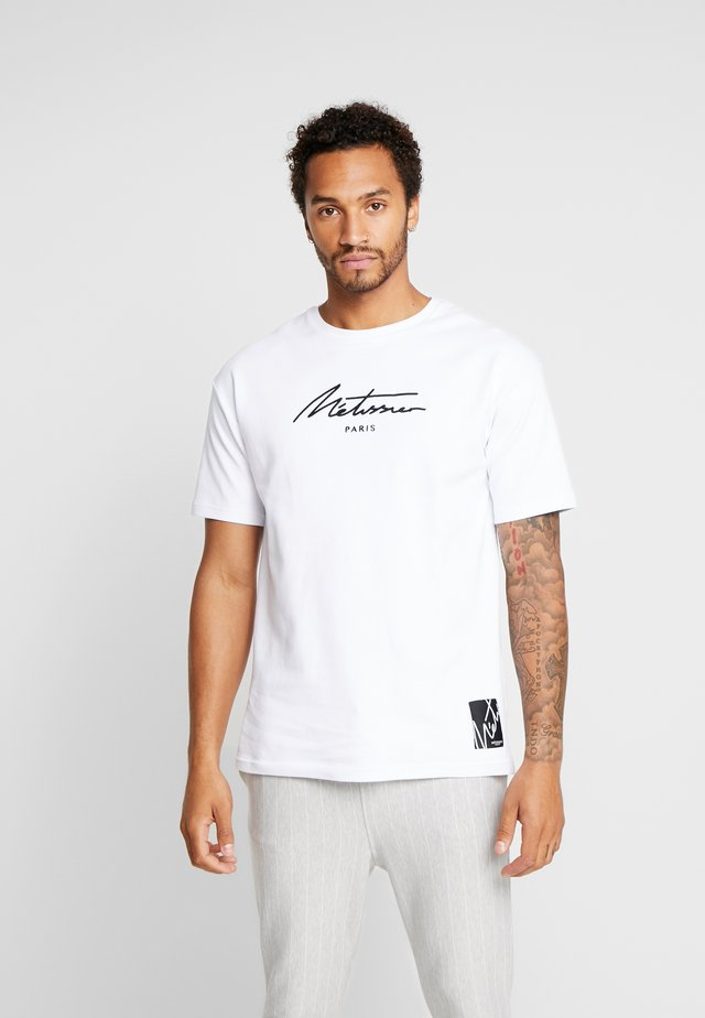 ARDO WITH SIGNATURE LOGO - Print T-shirt - white
