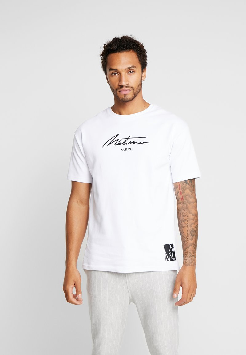 Metissier - ARDO WITH SIGNATURE LOGO - T-shirt med print - white