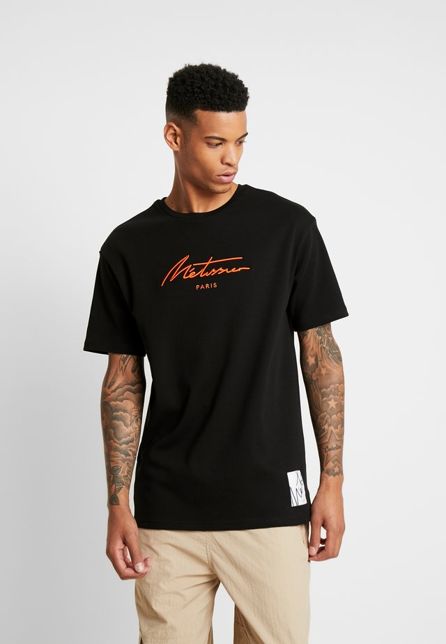 ARDO WITH SIGNATURE LOGO  - Print T-shirt - black