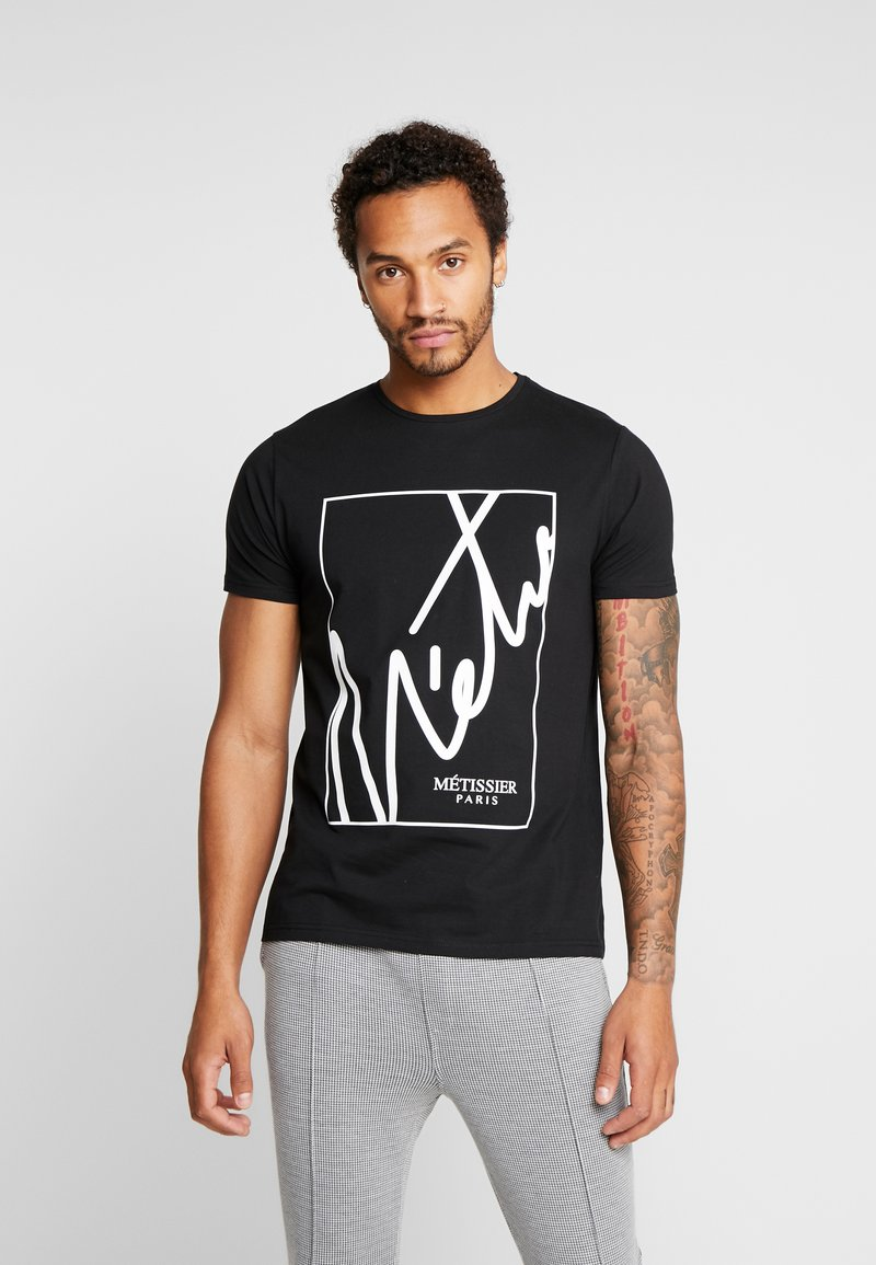 Metissier - ARIS WITH LOGO BOX - T-shirt print - black/white