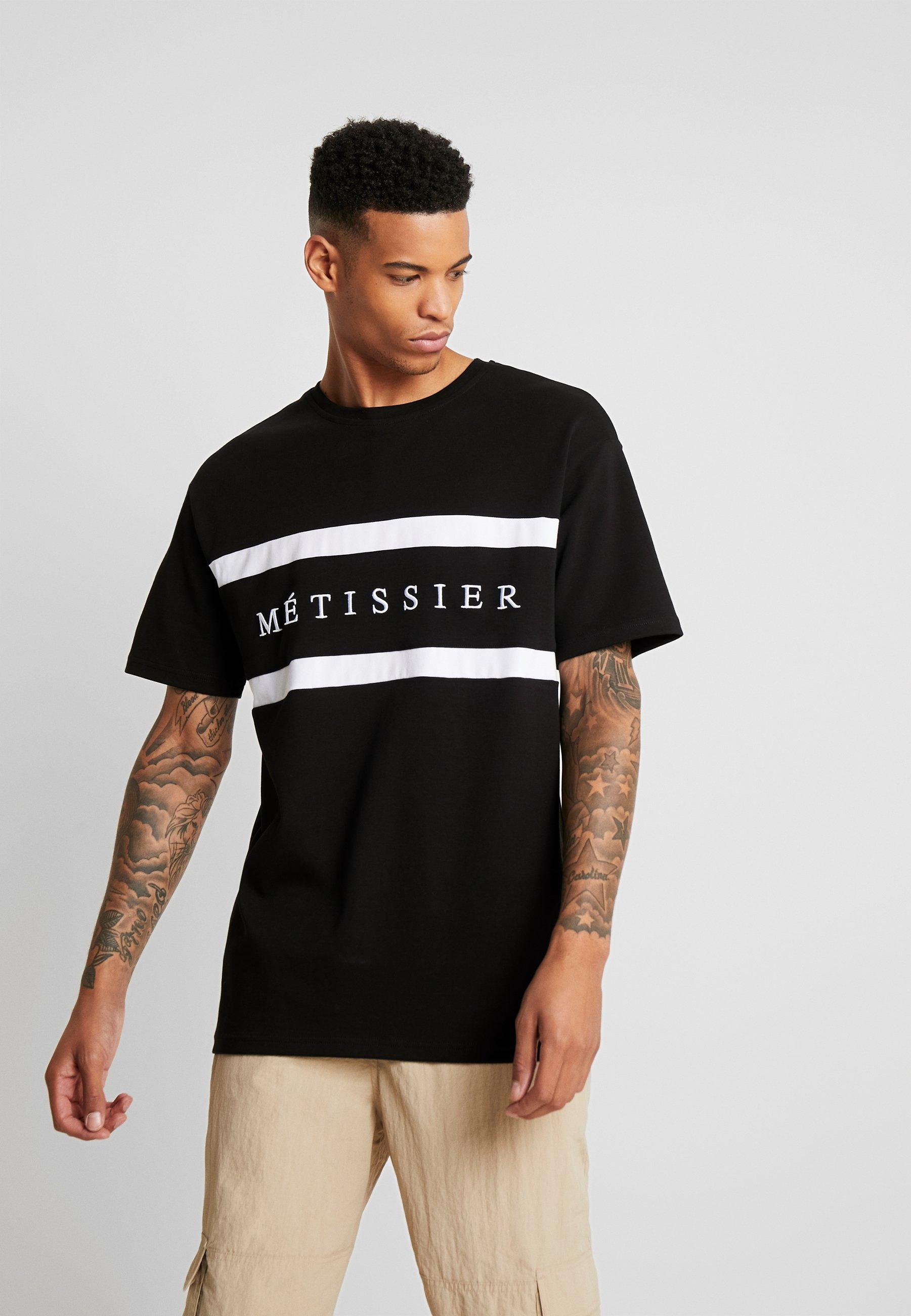 Metissier CHECK PANEL T shirt print black Zalando.nl