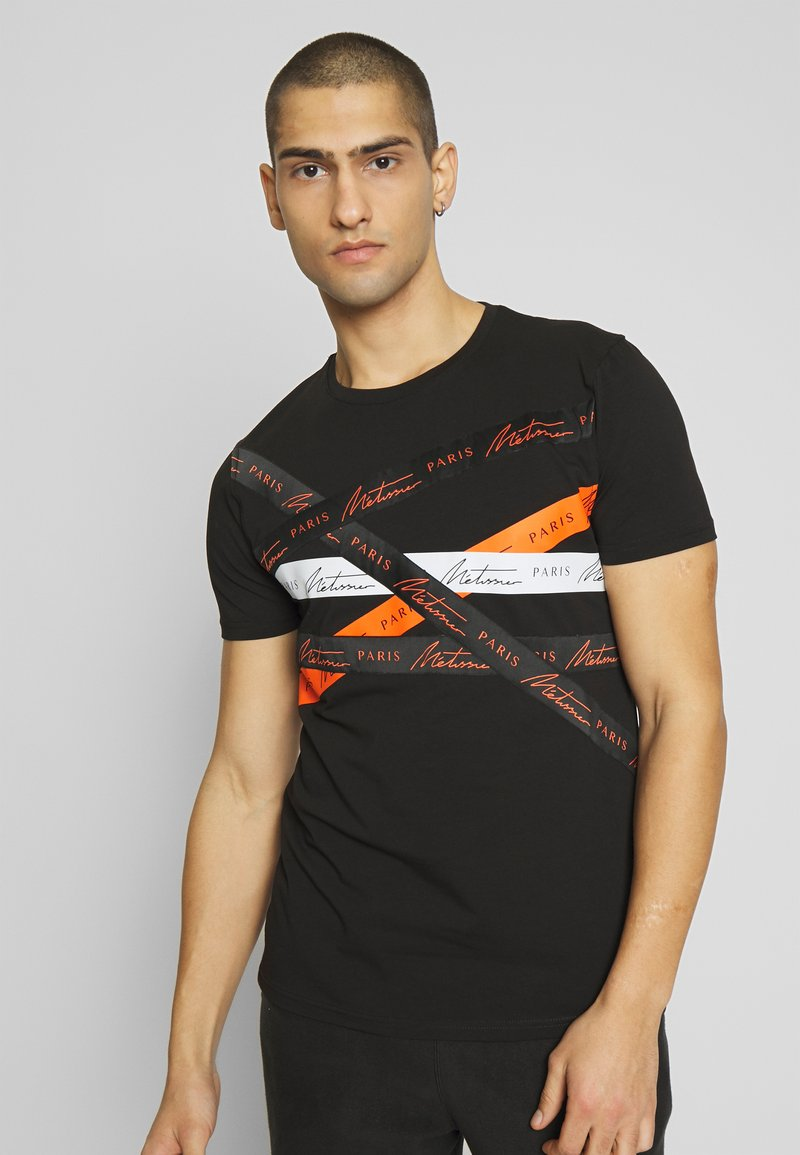Metissier - METISSIER ORIA  - Print T-shirt - black