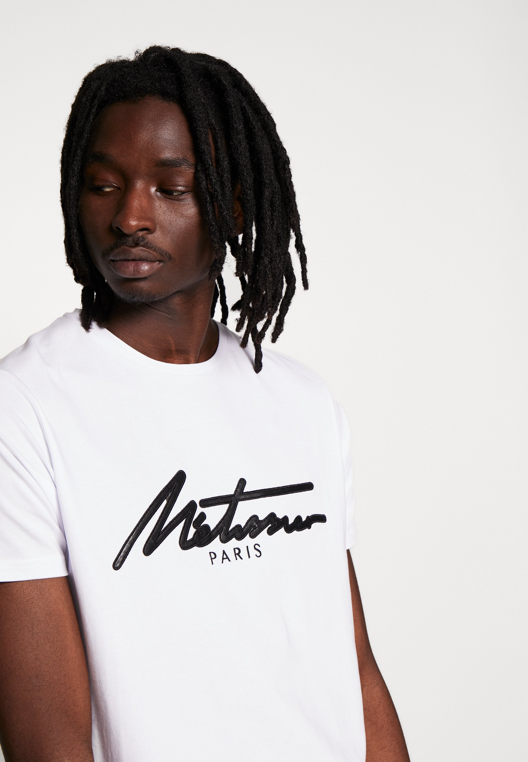 Metissier Venlo T-shirt In White - Med Print