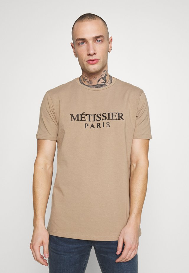 METISSIER TARIS - T-shirt print - sand