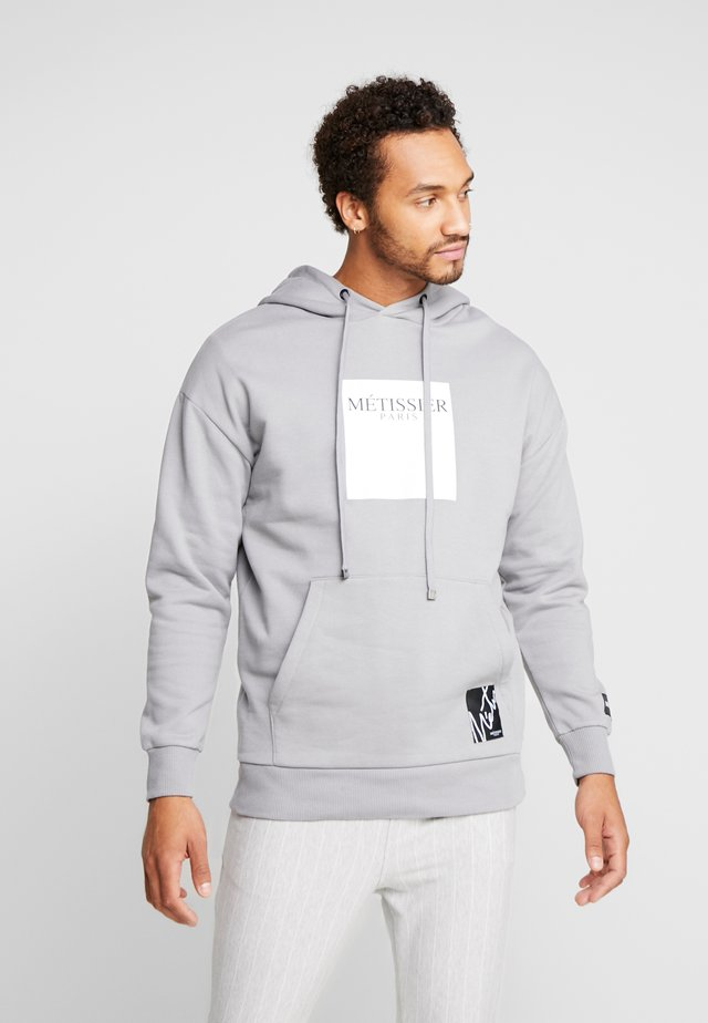 BANCO OVERSIZEED HOODIE WITH LOGO - Hættetrøjer - steel grey